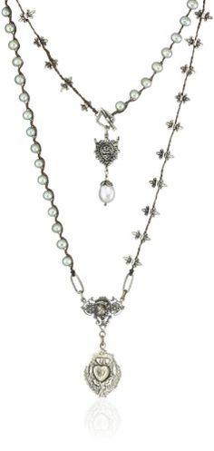 Love Heals Angelus, Sage Pearl Necklace