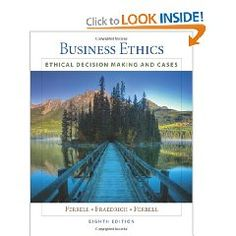 Our class textbook - a great read if you want to have a better understanding of indepth ethic business practices. This book is by far the best ethics that I have read in quite some time. (2426)