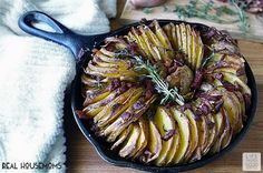 Crispy Potato Roast is a flavorful combination of potatoes, chopped shallots & crispy pancetta, and it is officially my new favorite side dish! Crockpot Swiss Steak Recipes, Roast Recipes, Side Recipes, Dinner Recipes, Crispy Potatoes, Roasted Potatoes, Cookbook Recipes, Cooking Recipes, Holiday Side Dishes