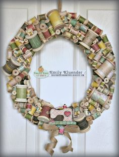http://creationsofanarmywife.blogspot.com/2013/11/peachy-keen-stamp-challenge-13-46_15.html Wooden Spool Wreath: Peachy Keen Stamps