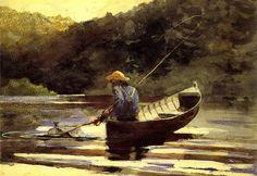 "Winslow Homer Watercolors | Boy Fishing"" by Winslow Homer"