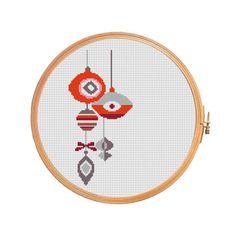 Cross stitch pattern Christmas Decorations by PatternsCrossStitch