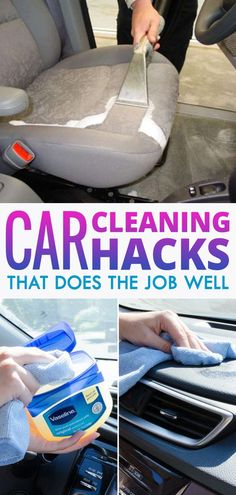 Car Cleaning Tricks That Your Body Shop Won& Tell You About By using some e. - Car Cleaning Tricks That Your Body Shop Won& Tell You About By using some everyday items and - Car Cleaning Hacks, Deep Cleaning Tips, Car Hacks, House Cleaning Tips, Diy Cleaning Products, Cleaning Solutions, Spring Cleaning, Hacks Diy, Cleaning Interior Of Car