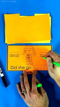 Sight Word Booklets, Sight Word Readers, Sight Word Sentences, Dolch Sight Words, Sight Word Worksheets, Teaching Kindergarten, Teaching Resources, Teaching Ideas, Spelling Activities