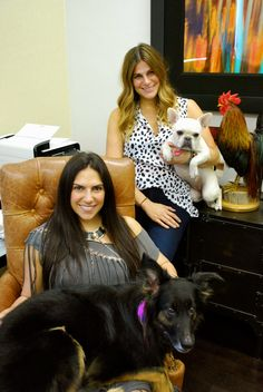 Alex & Donya Litowitz, co-founders of Condition Culture, with their furry friends in Wynwood