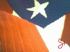 "Art by Chris Quiñonez (Knitwork) ""Puerto Rican Flag"" (2000)"
