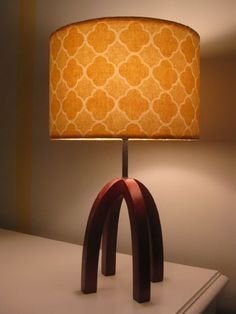 How to re-cover a lamp shade. This website is AWESOME! Young House Love. I want everything in every room of her house. Especially her rugs.