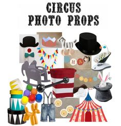 Circus Photo Props #photography #baby #SocialCircus