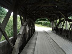 17. The inside of Happy Corner covered bridge in Pittsburg shows the work that goes into these structures.