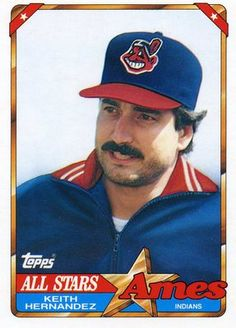 RARE 1990 TOPPS AMES ALL STARS KEITH HERNANDEZ CLEVELAND INDIANS MINT