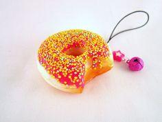 Bright Pink Donut Kawaii Squishy - ERROR. $3.00, via Etsy.