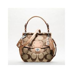 Coach Poppy Signature New Willis ($278) ❤ liked on Polyvore