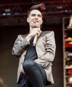 Brendon Urie | AT&T Block Party, Houston, Texas - 4/1/16 | Photography by Bob Levey