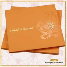 A simple yet beautiful Orange velvet invitation with Right side Electroplated Ganesha & Left side has the name of bride and groom looks beautiful. The name of the bride and the groom in a brush script font printed in gold looks elegant. Indian Wedding Invitations, Creative Wedding Invitations, Wedding Invitation Design, Wedding Stationery, Custom Invitations, Royal Indian Wedding, Indian Wedding Cards, Wedding Card Design, Wedding Details