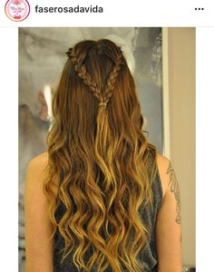 Hairstyles Wavy Hair Updo New Ideas Pretty Hairstyles, Girl Hairstyles, Braided Hairstyles, Hairstyles Videos, Braided Ponytail, Medieval Hairstyles, How To Make Hair, Love Hair, Hair Day