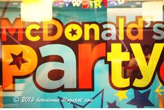Here's sharing on what goes on, at a McDonald's Party!