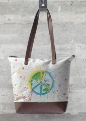 Peaceful World Statement Bag Artprint By Buttafly ( Vanessa Brünsing ) available on VIDA
