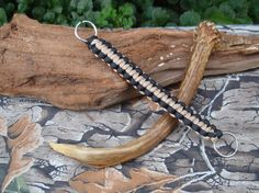 Paracord Lanyard Keychain  Gold and Black  Cobra by ACORDING2MACEY