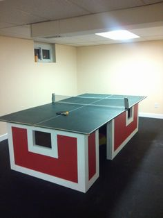Ping pong table fort