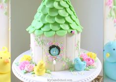 Beautiful Birdhouse Cake Tutorial by MyCakeSchool.com. Member Video. Online Cake Tutorials & Recipes!