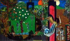 "jareckiworld: ""Romare Bearden - Mecklenburg County (Expulsion from Paradise) 1978. """