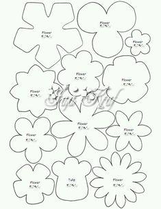 30 Images of Felt Flower Template Handmade Flowers, Diy Flowers, Fabric Flowers, Paper Flowers, Paper Butterflies, Felt Flower Template, Felt Templates, Felt Flower Tutorial, Printable Flower