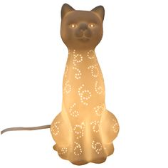 Cute Cat Porcelain Lamp #lamp #lighting #cat #kitten #home #decor