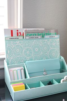 Office Organization simply organized: organized desktop – with Martha Stewart Home Office Organization, Home Office Decor, Organization Hacks, Organizing Life, Cardboard Organizer, Diy Cardboard, Diy Rangement, Getting Organized, Diy Desktop