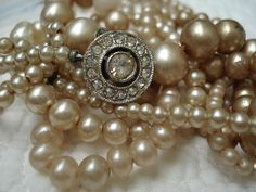 #pearls with diamond clasp - #perles #perolas