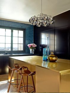 When you look at a lot of kitchens, you see a lot of white cabinets and white marble countertops and subway tile