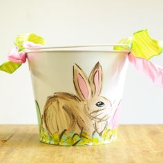 The cutestbuckets are here!! -https://www.themississippigiftcompany.com/collections/easter-gifts-and-gift-baskets/products/hand-painted-girl-bunny-easter-pail