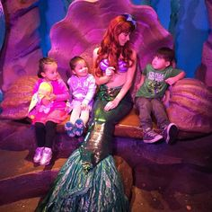 I guess Kullen wasn't thrilled to meet Ariel...his glare says it all!  #disney #thelittlemermaid #magickingdom #ariel #nofilter
