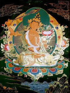 "Manjushri is viewed both as a historical bodhisattva, and as an emanation of Vairochana, is compared to the sun -- his nature is ""everywhere-pervading.""  He manifests as a bodhisattva to provoke investigation into such topics as voidness, free will, and the nature of the self."