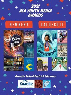 Posters: 2021 ALA Youth Media Awards – Granite Media Library Posters, Coretta Scott King, American Library Association, Educational Technology, Book Lists, Nonfiction, Granite, Good Books, Awards