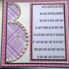 Leaving work for maternity card Baby Card Messages, Leaving Work, Baby Crafts, Having A Baby, Greeting Cards, Men's Cards, Baby Shower Games, Give It To Me, Projects To Try