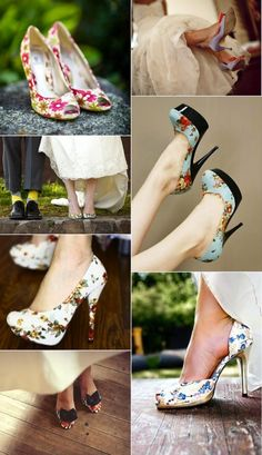 patterned wedding shoes #bride #accessories