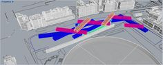 modello generato dalla ripetizione e intersezione di un modulo prismatico- vista prospettica