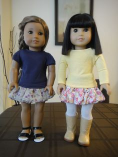 I'd love to get Reese an American Girl doll some day and how cute would one of those skirts be? How to Sew a No Pattern Bubble Skirt for American Girl Dolls
