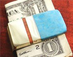 Turquoise Money Clip Men Wallet Accessories Moneyclip Groomsmen Gift MC14