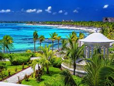Barcelo Maya Palace Deluxe is 45 miles south of Cancun.