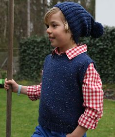 Child's Vest and Hat, S8934 - Free Pattern. 3-7 years