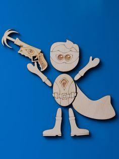 Magneticon™ Superhero magnet set poseable laser cut