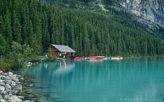 Banf National Park, Alberta. Lake Louise - the boat house by *La-Vita-a-Bella.