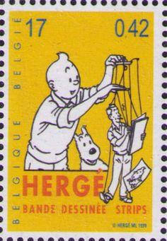 "wiredforlight: "" Tintin stamp, Belgium, 1999 """