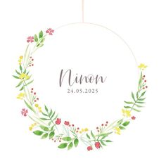 Faire Part Photo, Marine Rose, Illustration, Wreaths, Custom Candles, Flower Crowns, Door Wreaths, Illustrations, Deco Mesh Wreaths