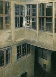 Hammershoi, Vilhelm – 1899 Interior of Courtyard, Strandgade (Toledo Museum of Art, U. Toledo Museum Of Art, Art Museum, Pieter De Hooch, White Building, Cleveland Museum Of Art, Open Window, Canvas Artwork, Interior Paint, Art Google