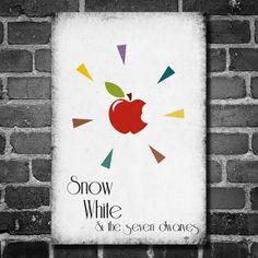 Disney Art Snow White Poster movie poster disney by Harshness, $19.00