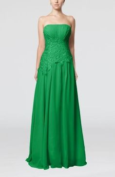 Strapless Romantic Prom Dress - Order Link: http://www.theweddingdresses.com/strapless-romantic-prom-dress-twdn7735.html - Embellishments: Appliques , Pleated; Length: Floor Length; Fabric: Chiffon; Waist: Natural - Price: 136.99USD