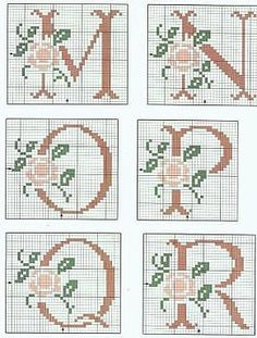 Initial cross stitch patterns | Learning Crafts is facilisimo.com