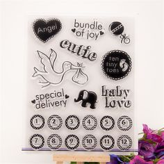 angel and baby love DIY Calendar Transparent Clear Rubber Stamp Seal Paper Craft Scrapbooking Decor paper card RZ-177